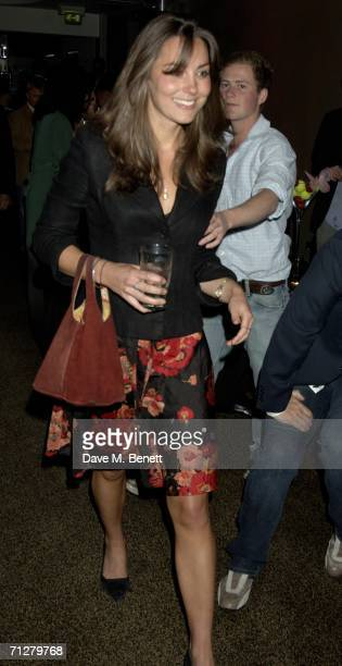 Kate Middleton attends the Sony Ericsson WTA Tour's preWimbledon party hosted by Sir Richard Branson of Virgin at The Roof Gardens on June 22 2006...