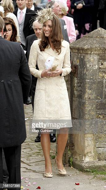 Kate Middleton Attends The Wedding Of Laura Parker Bowles Harry Lopes At St Cyriacs Church Lacock Wiltshire