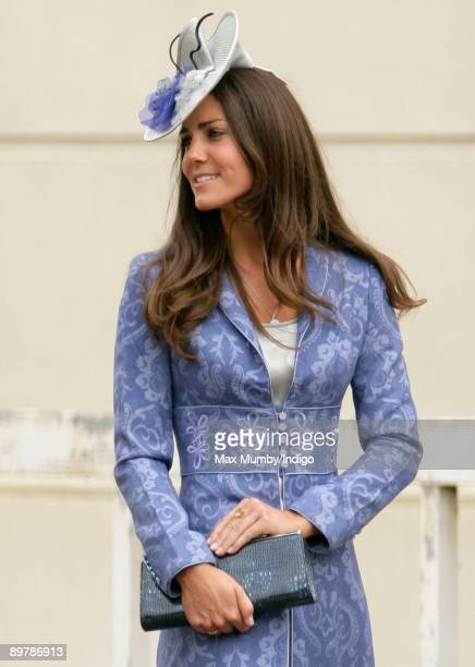 Kate Middleton attends the wedding of Nicholas van Cutsem and Alice HaddenPaton at The Guards Chapel Wellington Barracks on August 14 2009 in London...