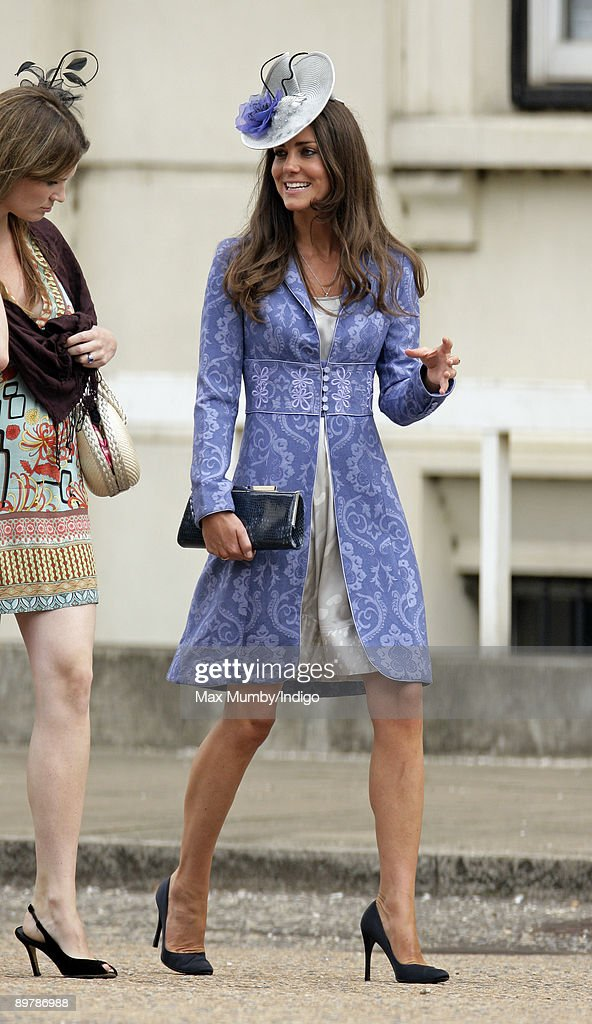 Kate Middleton attends the wedding of Nicholas van Cutsem and Alice at The Guards Chapel, Wellington Barracks on August 14, 2009 in London, England.
