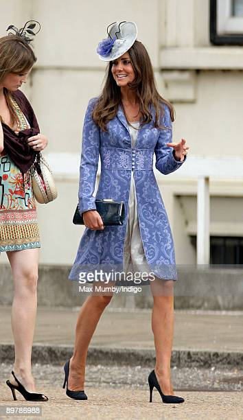 Kate Middleton attends the wedding of Nicholas van Cutsem and Alice at The Guards Chapel Wellington Barracks on August 14 2009 in London England