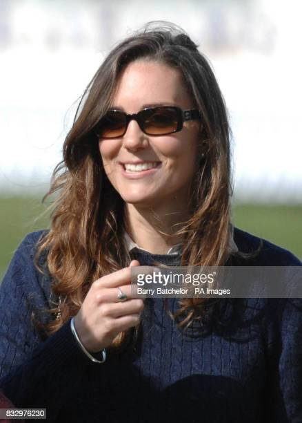 Kate Middleton former girlfriend of Prince William walking the cross country course at the Mitsubishi Motors Badminton Horse Trials