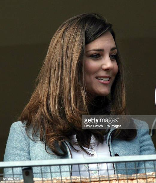 Kate Middleton girlfriend of Prince William at the races on the last day of Cheltenham Festival