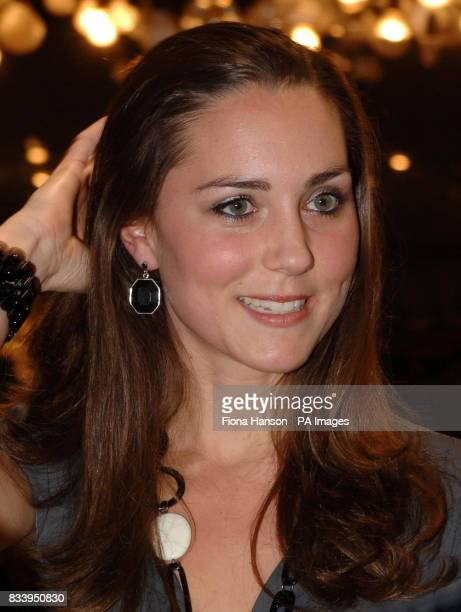 Kate Middleton girlfriend of Prince William hosting Time to Reflect an exhibition of limited edition photographs of celebrities by Alistair Morrison...