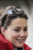 Kate Middleton girlfriend of Prince William joins in with the royal ski party in Klosters on March 30 2005 in Switzerland