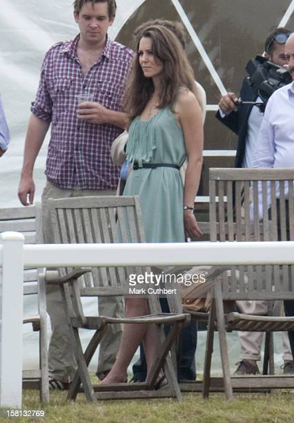 Kate Middleton In The Crowd At The Chakravarty Cup Polo Match At Beaufort Polo Club Near Tetbury Gloucestershire Where Her Boyfriend William Is...