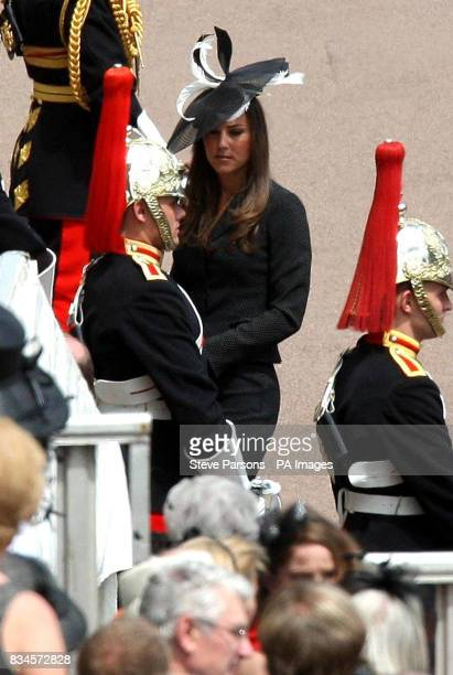 Kate Middleton in Windsor today to watch her boyfriend Prince William join other members of the Royal family as a Knight of the Garter