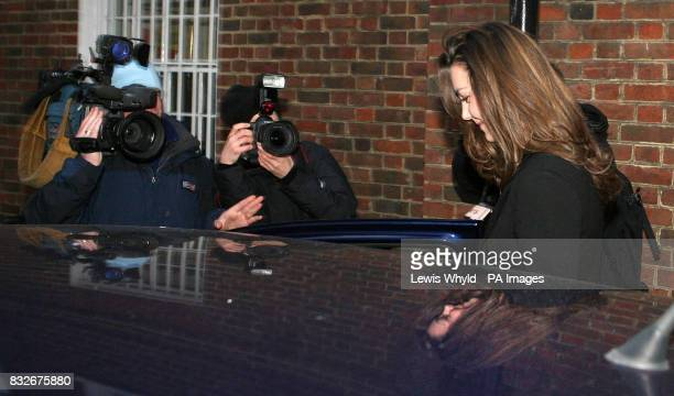 Kate Middleton is met by photographers and film crews outside her house in London on her 25th birthday