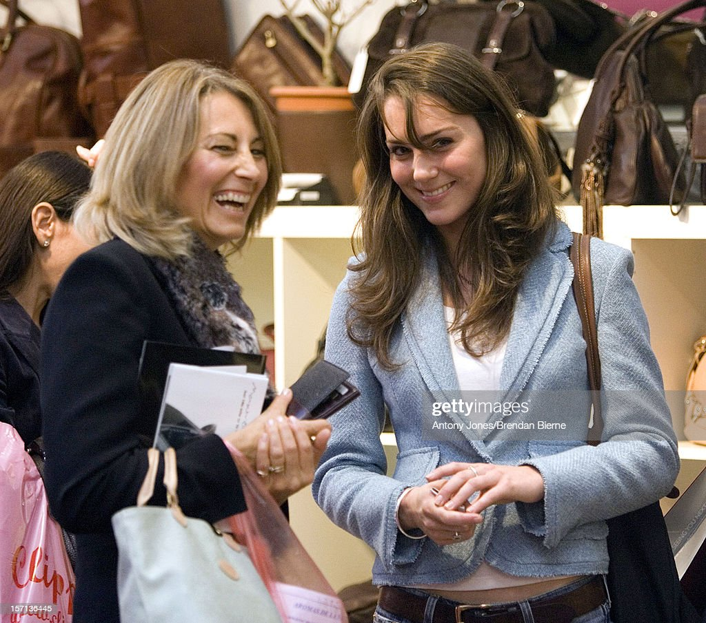 Kate Middleton & Mother Carole Visit The Spirit Of Christmas Shopping Festival At London'S Olympia.