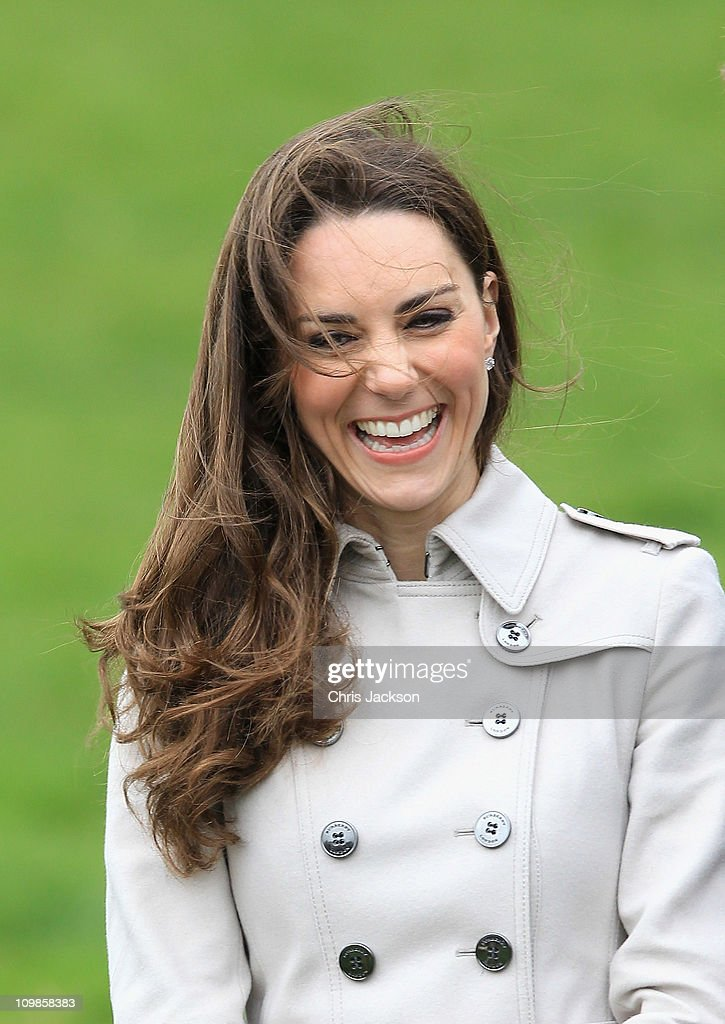 Kate Middleton smiles as she visits Greenmount Agricultural College on March 8, 2011 in Belfast, Northern Ireland. The Royal Couple are visiting Northern Ireland as part of a tour of the country that a couple of weeks ago took them to St Andrews University in Scotland and Anglesey in North Wales to launch a lifeboat. This day-long trip to Ireland has been kept top secret due to security issues. They will marry on the 29th April at Westminster Abbey in a much anticipated ceremony.