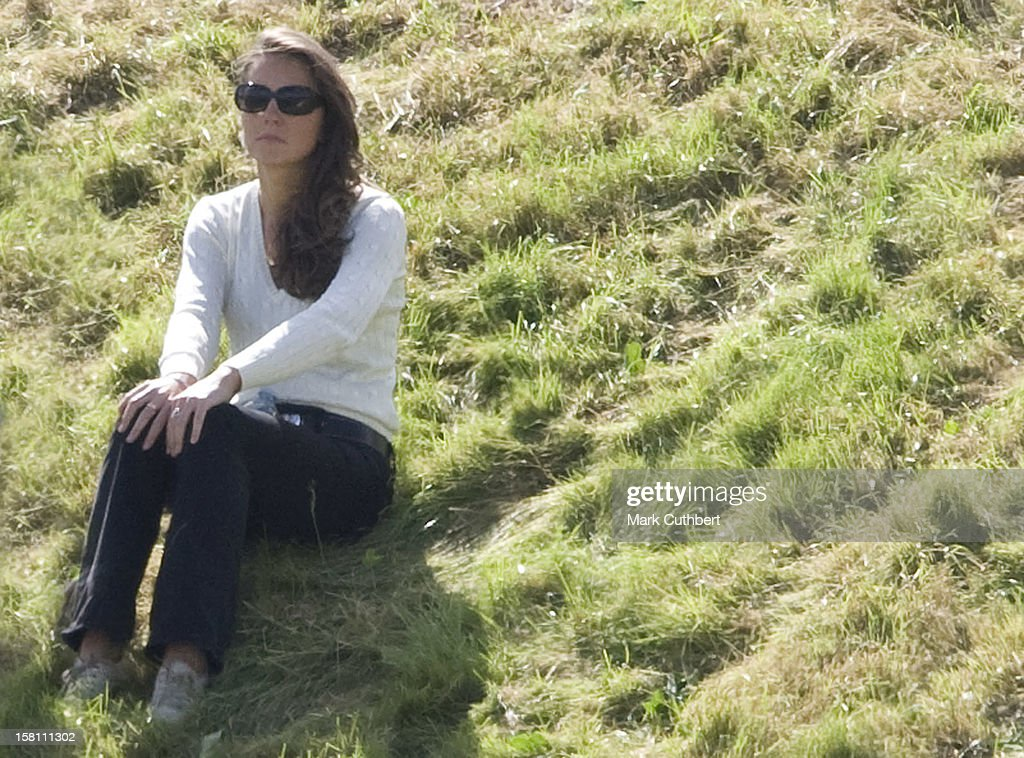 Kate Middleton Spotted At Beaufort Polo Club, Gloucestershire, Whilst Watching Prince William And Prince Harry In A Charity Polo Match.