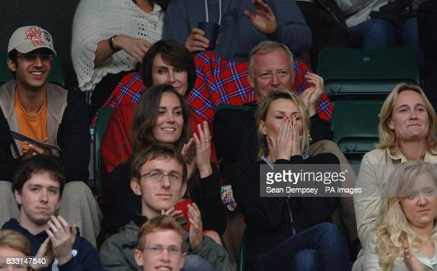 Kate Middleton watches from the crowd during the match between Spain's Rafael Nadal and Sweden's Robin Soderling on Court One during The All England...