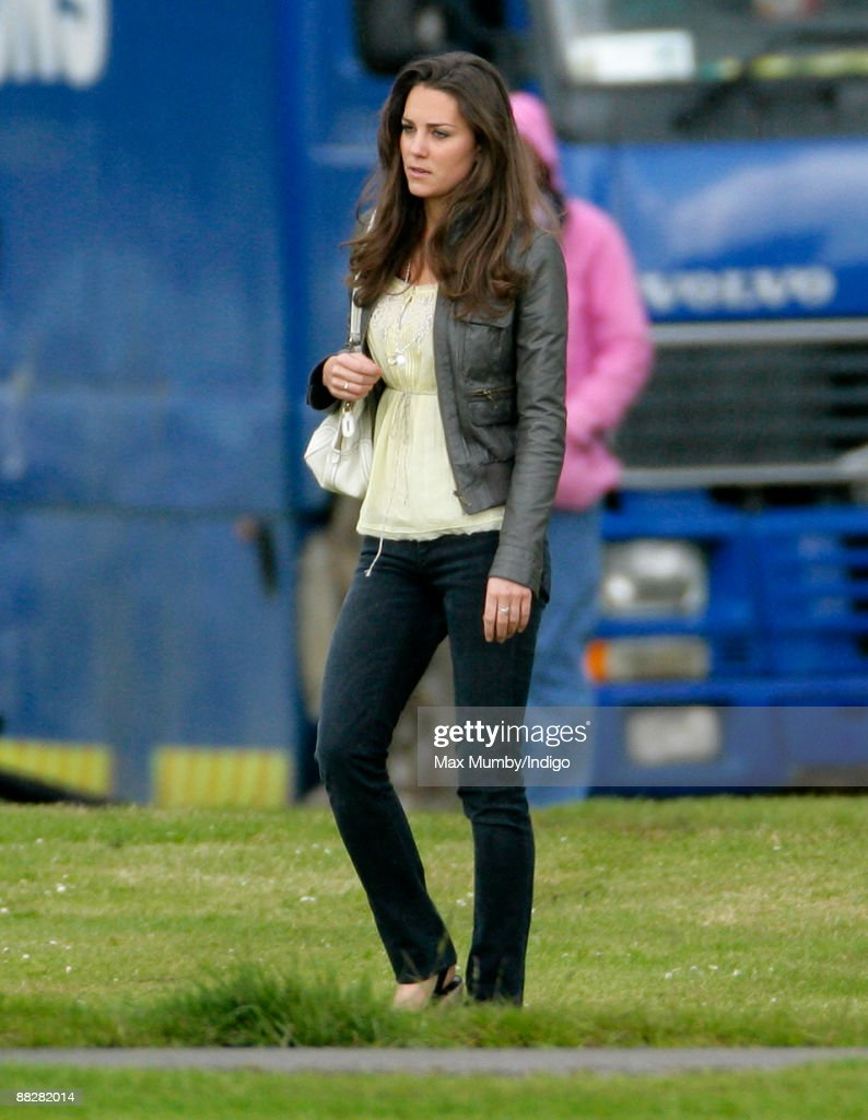Kate Middleton watches HRH Prince William and HRH Prince Harry compete in The Dorchester Trophy polo match at Cirencester Park Polo Club on June 7, 2009 in Cirencester, England.