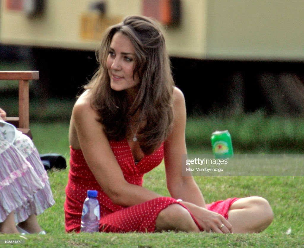 Kate Middleton watches Prince William compete in the Chakravarty Cup charity polo match at Ham Polo Club on June 17, 2006 in Richmond, England.