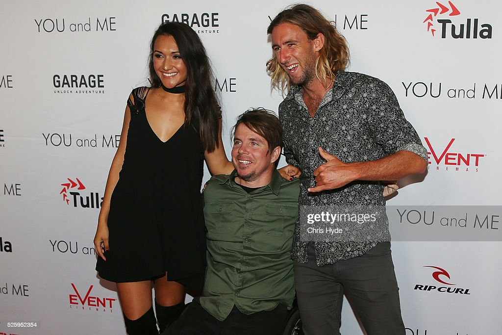 Kate Miller, Barney Miller and Matt Wilkinson arrive ahead of Gold Coast premiere of 'YOU and ME' at Event Cinemas Pacific Fair on April 29, 2016 in Gold Coast, Australia.