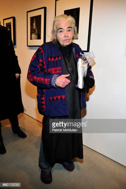 Kate Millett attends CYNTHIA MACADAMS and TIMOTHY GREENFIELDSANDERS Photo Exhibit at Steven Kasher Gallery on January 28 2009 in New York City