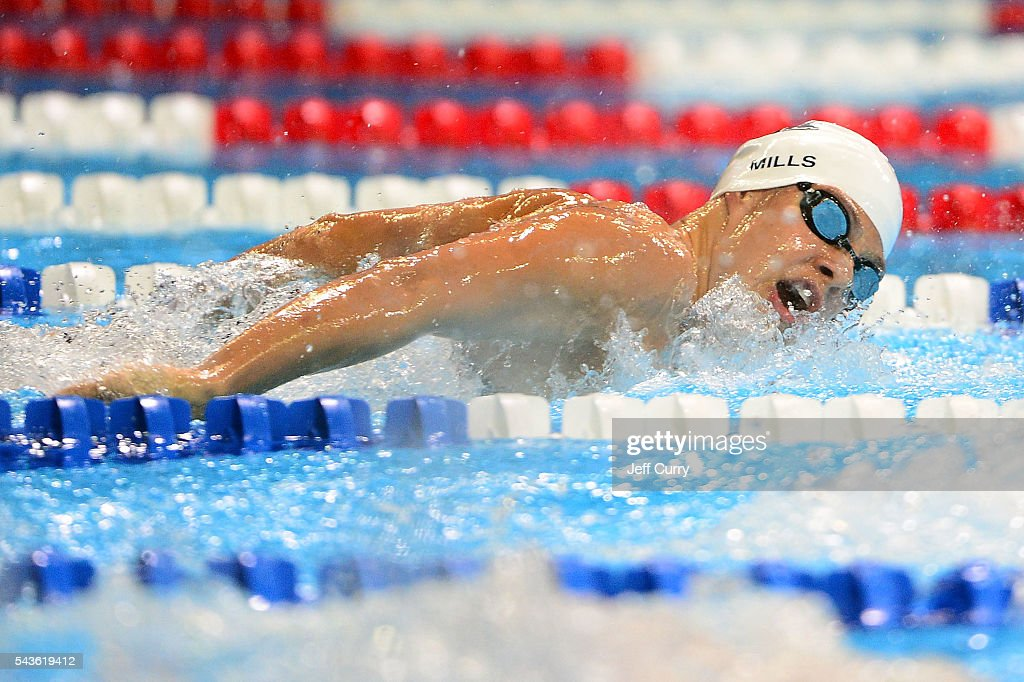 Kate Mills of the United States competes in a preliminary heat of the Women's 200 Meter Butterfly during Day 4 of the 2016 U.S. Olympic Team Swimming Trials at CenturyLink Center on June 29, 2016 in Omaha, Nebraska.