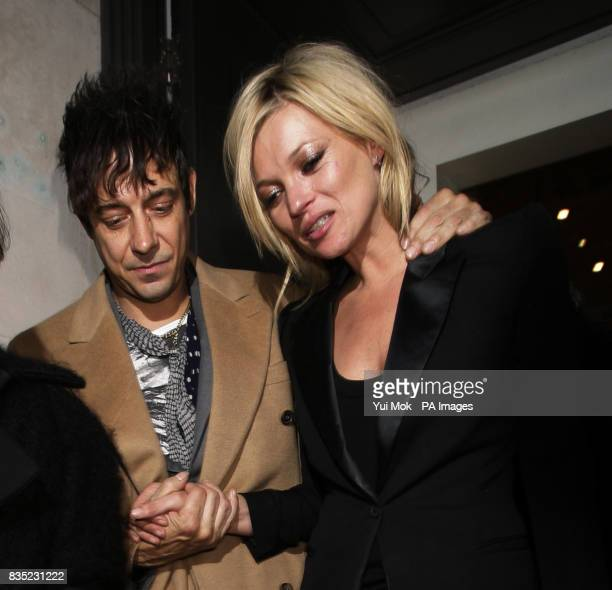 Kate Moss and boyfriend Jamie Hince leaving the Mummy Rocks event to celebrate the role of mothers and to support Great Ormond Street Hospital...