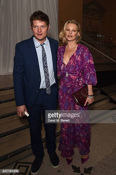 Kate Moss and Count Nikolai von Bismarck attend the 2016 VA Summer Party In Partnership with Harrods at The VA on June 22 2016 in London England