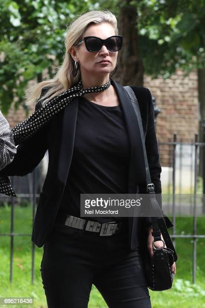 Kate Moss and her boyfriend Count Nikolai von Bismarck seen visiting The Flask Pub in Highgate on June 12 2017 in London England