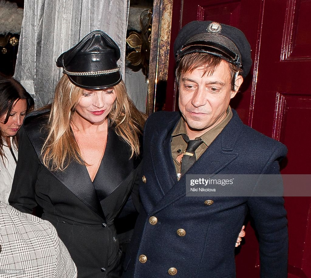 Kate Moss and Jamie Hince are sighted leaving lulu Restaurant, Mayfair on September 16, 2013 in London, England.