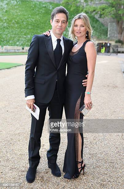Kate Moss and Jamie Hince arrives for a dinner to celebrate the work of The Royal Marsden hosted by the Duke of Cambridge at Windsor Castle on May 13...