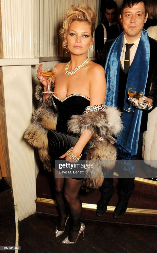 <a gi-track='captionPersonalityLinkClicked' href=/galleries/search?phrase=Kate+Moss&family=editorial&specificpeople=201830 ng-click='$event.stopPropagation()'>Kate Moss</a> (L) and <a gi-track='captionPersonalityLinkClicked' href=/galleries/search?phrase=Jamie+Hince&family=editorial&specificpeople=220566 ng-click='$event.stopPropagation()'>Jamie Hince</a> attend Fran Cutler's surprise birthday party supported by ABSOLUT Elyx at The Box Soho on April 30, 2013 in London, England.