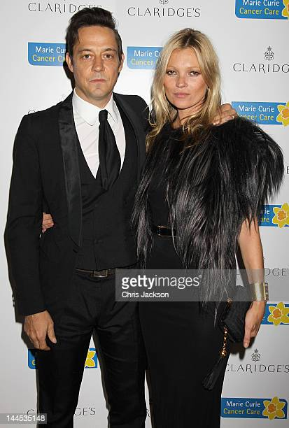 Kate Moss and Jamie Hince attend the Marie Curie Cancer Care Fundraiser hosted by Heather Kerzner at Claridge's Hotel on May 15 2012 in London...