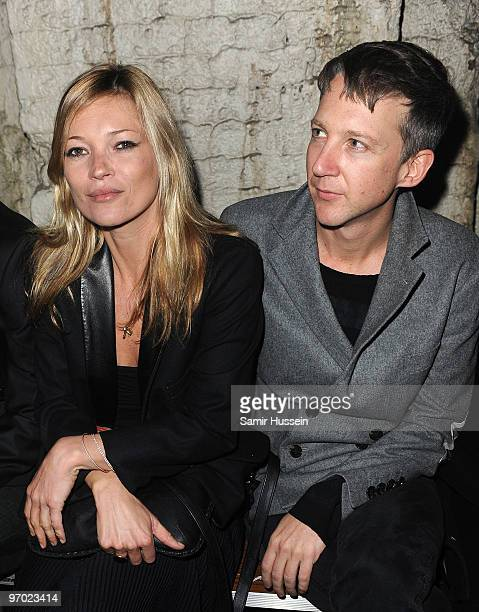 Kate Moss and Jefferson Hack attend the James Small London Fashion Week Autumn/Winter 2010 show in the Vaults on February 24 2010 in London England