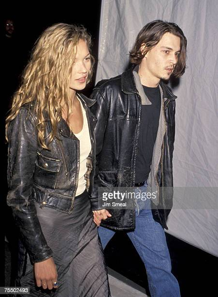 Kate Moss and Johnny Depp at the Smashbox Studios in Culver City California