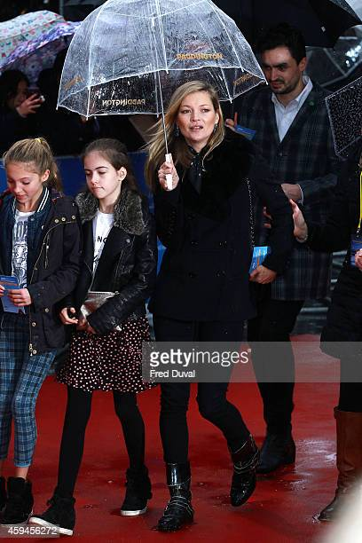 Kate Moss and Lila Grace Moss attend the 'Paddington' world premiere at Odeon Leicester Square on November 23 2014 in London England