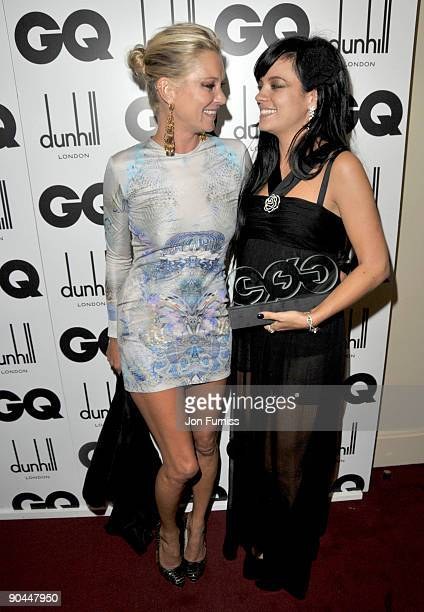 Kate Moss and Lily Allen attends the 2009 GQ Men Of The Year Awards at The Royal Opera House on September 8 2009 in London England