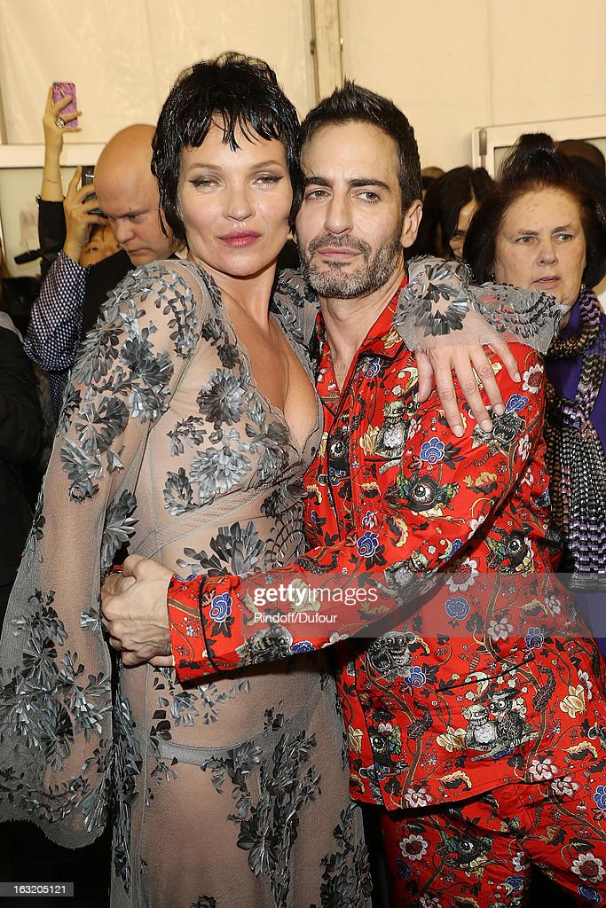 <a gi-track='captionPersonalityLinkClicked' href=/galleries/search?phrase=Kate+Moss&family=editorial&specificpeople=201830 ng-click='$event.stopPropagation()'>Kate Moss</a> and Marc Jacobs attend the Louis Vuitton Fall/Winter 2013 Ready-to-Wear show as part of Paris Fashion Week on March 6, 2013 in Paris, France.