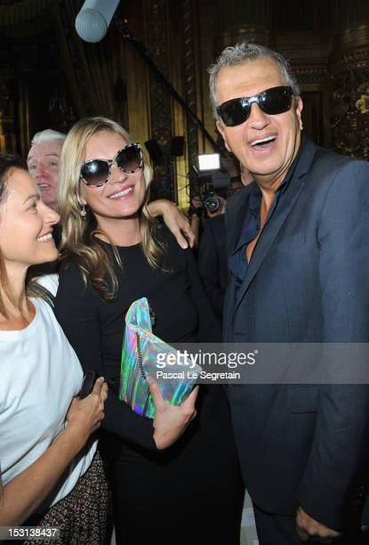 Kate Moss and Mario Testino attend the Stella McCartney Spring / Summer 2013 show as part of Paris Fashion Week on October 1 2012 in Paris France
