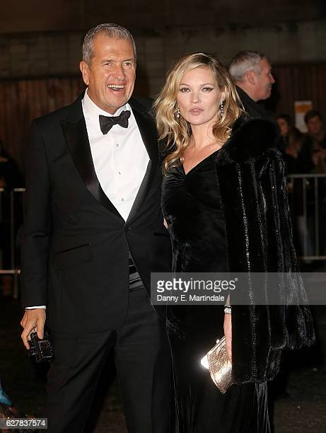 Kate Moss and Mario Testino attends The Fashion Awards 2016 at Royal Albert Hall on December 5 2016 in London England