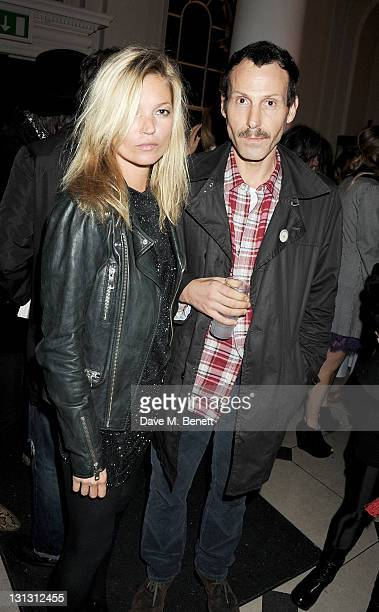 Kate Moss and Marlon Richards attend an exhibition celebrating the 20th anniversary of Dazed Confused Magazine in partnership with Motorola...
