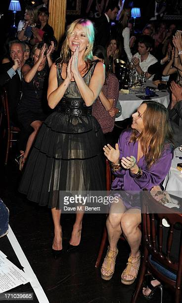 REQUIRED Kate Moss and Stella McCartney attend the Hoping Foundation's 'Rock On' benefit evening for Palestinian refugee children at Cafe de Paris on...