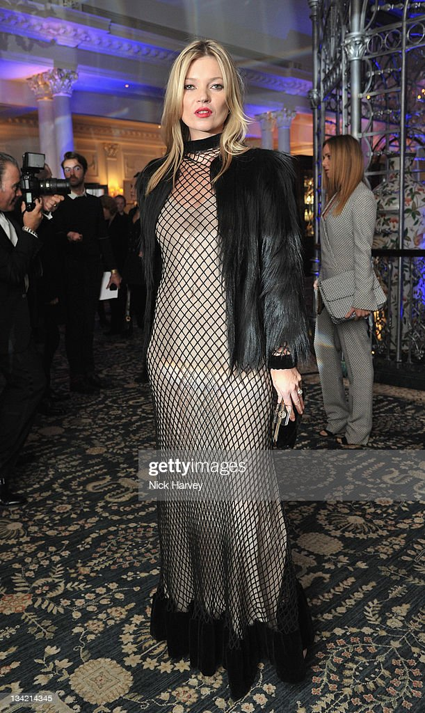 Kate Moss arrives at the British Fashion Awards at The Savoy Hotel on November 28 2011 in London England