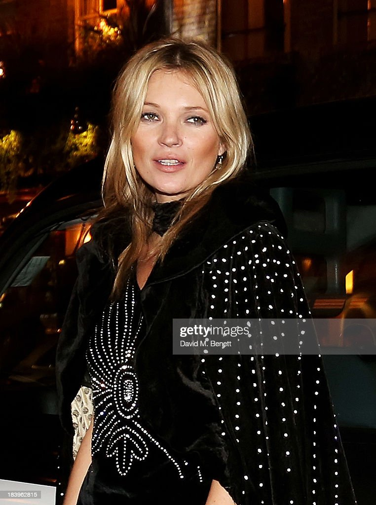 <a gi-track='captionPersonalityLinkClicked' href=/galleries/search?phrase=Kate+Moss&family=editorial&specificpeople=201830 ng-click='$event.stopPropagation()'>Kate Moss</a> arrives at the Rimmel London 180 Years of Cool party at the London Film Museum on October 10, 2013 in London, England.