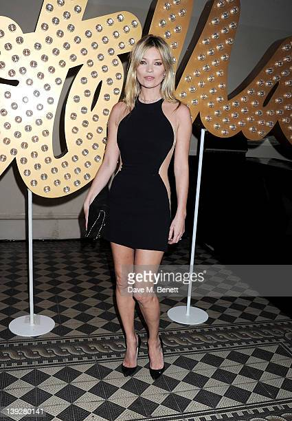 Kate Moss arrives at the Stella McCartney Special Presentation during London Fashion Week Autumn/Winter 2012 at One Mayfair on February 18 2012 in...