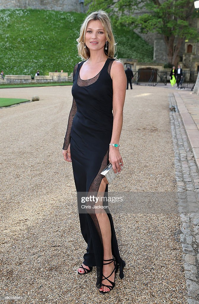 <a gi-track='captionPersonalityLinkClicked' href=/galleries/search?phrase=Kate+Moss&family=editorial&specificpeople=201830 ng-click='$event.stopPropagation()'>Kate Moss</a> arrives for a dinner to celebrate the work of The Royal Marsden hosted by the Duke of Cambridge at Windsor Castle on May 13, 2014 in Windsor, England.