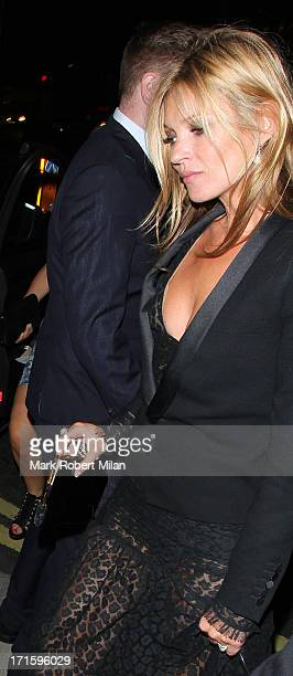 Kate Moss arriving at 45 Park Lane on June 26 2013 in London England