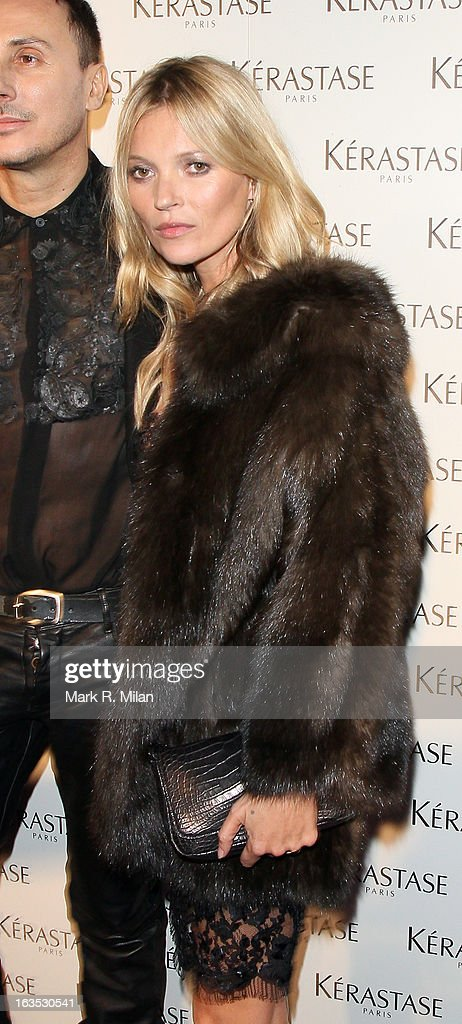 Kate Moss at One Mayfair for the Kerastase launch event on March 11, 2013 in London, England.