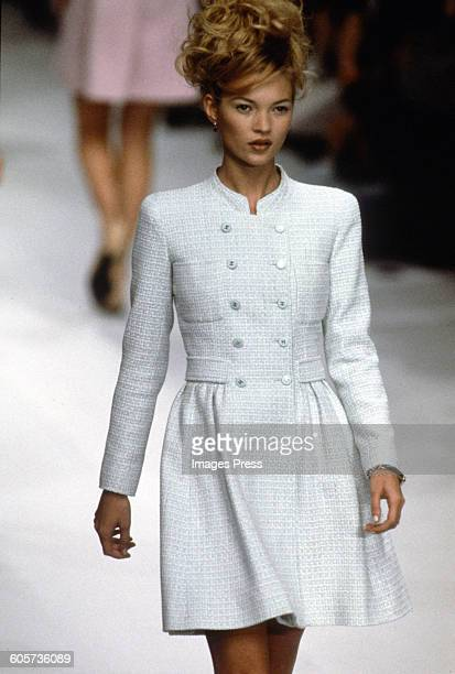 Kate Moss at the Chanel Spring 1996 show circa 1995 in Paris France