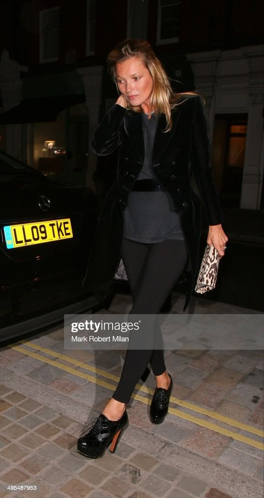 <a gi-track='captionPersonalityLinkClicked' href=/galleries/search?phrase=Kate+Moss&family=editorial&specificpeople=201830 ng-click='$event.stopPropagation()'>Kate Moss</a> at the Chiltern Firehouse on June 3, 2014 in London, England.
