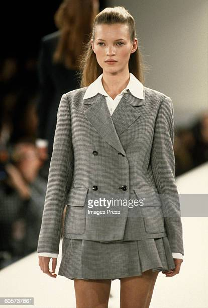 Kate Moss at the Isaac Mizrahi Spring 1994 show circa 1993 in New York City
