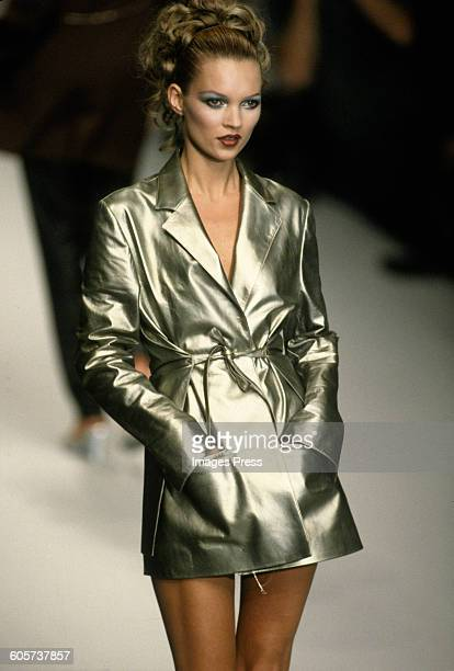 Kate Moss at the Karl Lagerfeld Spring 1996 show circa 1995 in Paris France