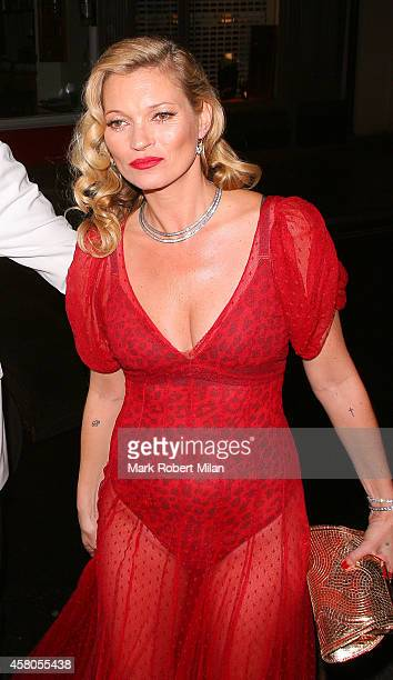 Kate Moss attending Mario Testinos Birthday party at the Chiltern Firehouse on October 29 2014 in London England