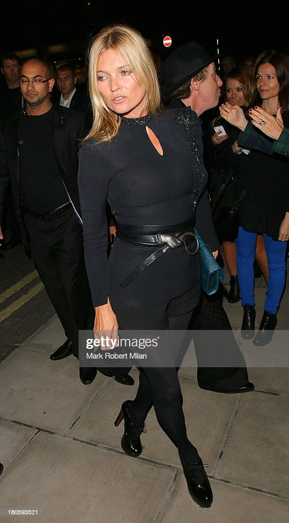 Kate Moss attending the Longchamp flagship store launch party on September 14, 2013 in London, England.