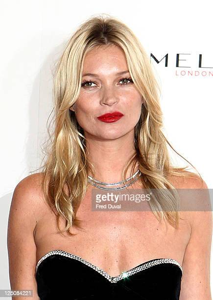 Kate moss attends a party celebrating Rimmel's 10 Year Partnership with Original London Girl Kate Moss at Battersea Power station on September 15...